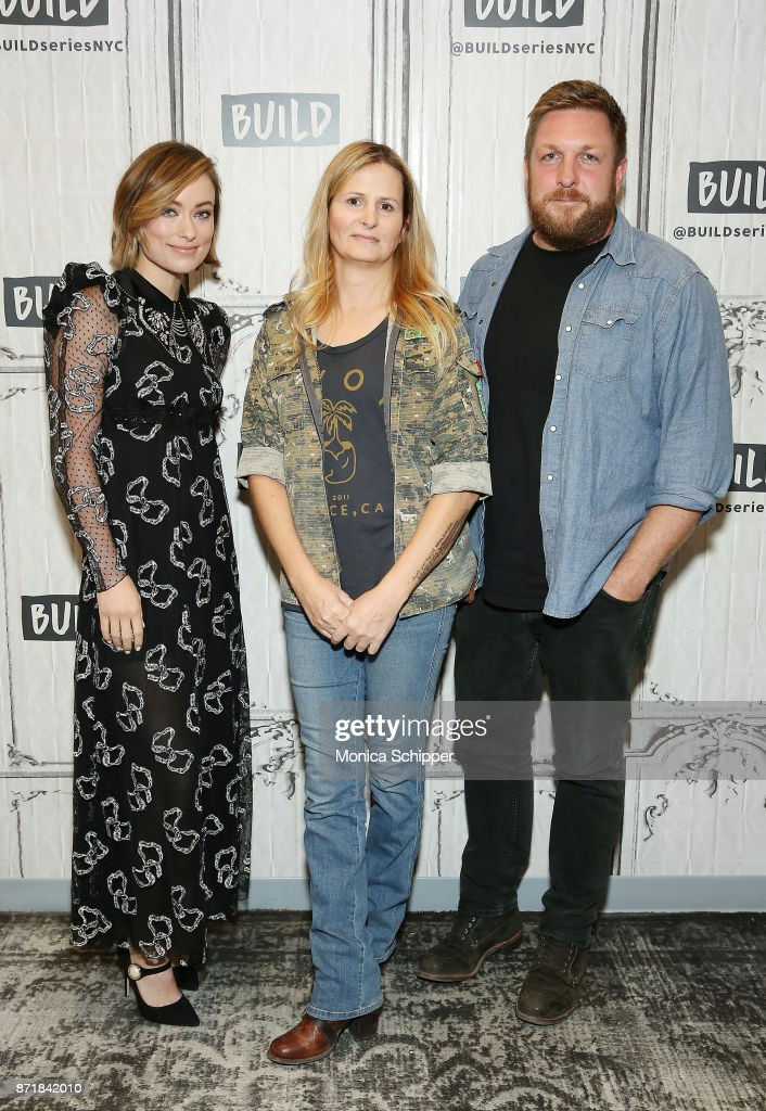 Actress Olivia Wilde, Hanna Bohman and filmmaker David Darg discuss 'Fear Us Women' at Build Studio on November 8, 2017 in New York City.