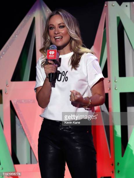 Actress Olivia Wilde introduces Lizzo to the stage during iHeartRadio's Z100 Jingle Ball 2019 at Madison Square Garden on December 13, 2019 in New...