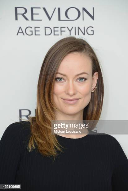 Actress Olivia Wilde launches Revlon's NEW Age Defying Collection at Trump SoHo on December 11 2013 in New York City