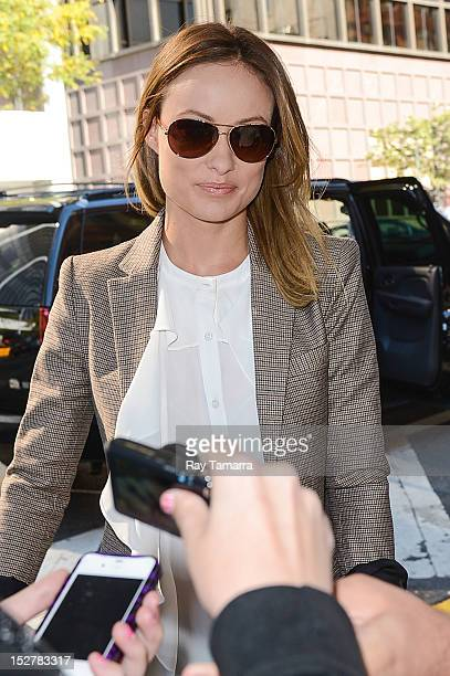 Actress Olivia Wilde leaves the 'Anderson Live' taping at the CBS Studios on September 25 2012 in New York City