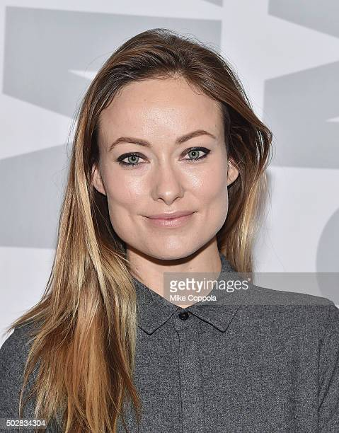 Actress Olivia Wilde poses for a picture at the 'Meadowland' New York Screening and QA at Museum of Modern Art on December 29 2015 in New York City