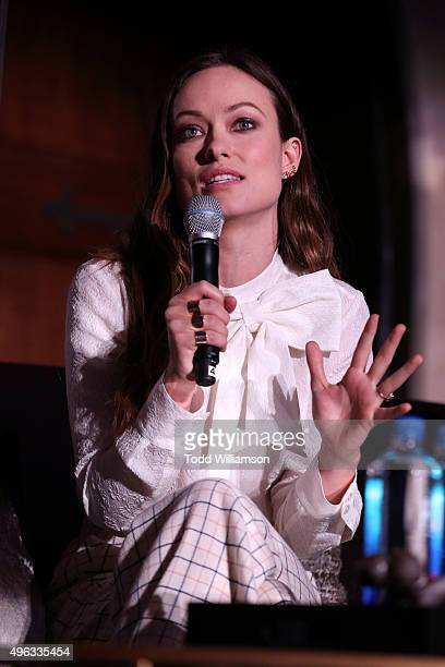 Actress Olivia Wilde speaks onstage at 'Indie Contenders Roundtable presented by The Hollywood Reporter' during AFI FEST 2015 presented by Audi at...