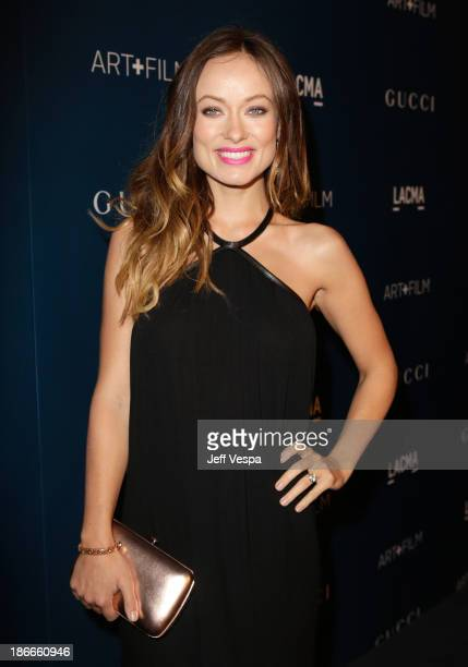 Actress Olivia Wilde, wearing Gucci, attends the LACMA 2013 Art + Film Gala honoring Martin Scorsese and David Hockney presented by Gucci at LACMA on...