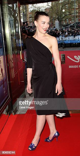 Actress Olivia Williams arrives at the UK premiere of 'Flashbacks of a Fool' at the Empire cinema Leicester Square on April 13 2008 in London England