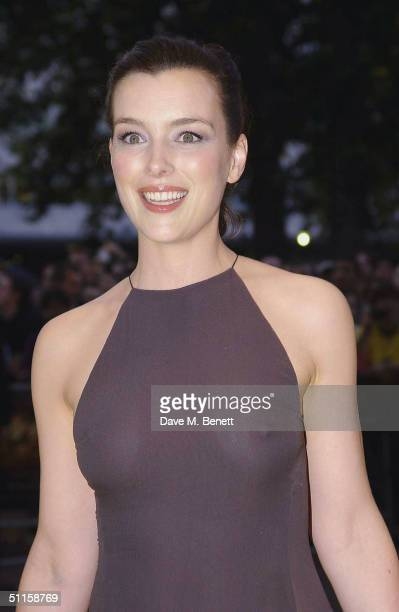 Actress Olivia Williams arrives at the UK Premiere of 'The Village' on August 10 2004 at the Odeon West End Leicester Square in London