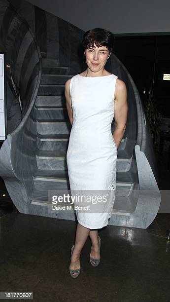 Actress Olivia Williams Poses During Post Show Drinks At The Press Night For Scenes From