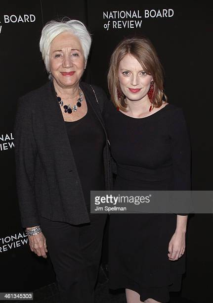 Actress Olympia Dukakis and actress/director Sarah Polley attend the 2014 National Board Of Review Awards Gala at Cipriani 42nd Street on January 7...