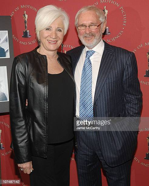 "Actress Olympia Dukakis and director Norman Jewison attend the ""Moonstruck"" 20th Anniversary Screening at The Academy Theater, Lighthouse..."