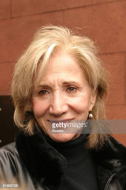 Actress Olympia Dukakis attends the funeral for Jerry Orbach at Riverside Chapel December 31 2004 in New York City
