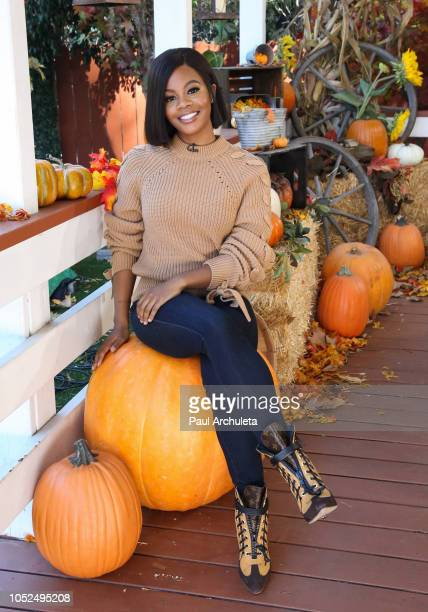 Actress / Olympic Athlete Gabby Douglas visits Hallmark's Home Family at Universal Studios Hollywood on October 18 2018 in Universal City California