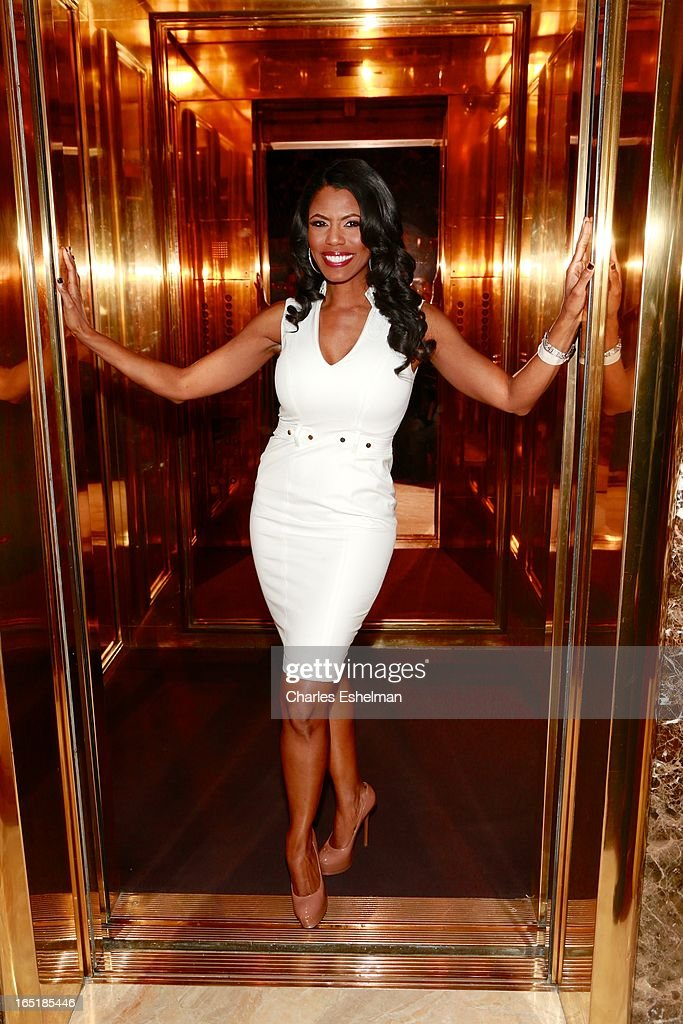Actress Omarosa Manigault leaves the 'All-Star Celebrity Apprentice' Red Carpet Event at Trump Tower on April 1, 2013 in New York City.
