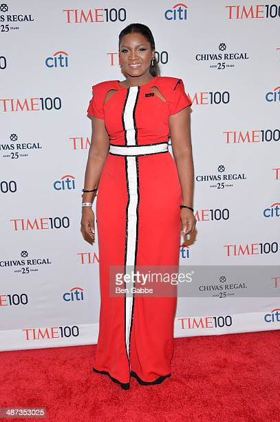 Actress Omotola JaladeEkeinde attends the TIME 100 Gala TIME's 100 most influential people in the world at Jazz at Lincoln Center on April 29 2014 in...