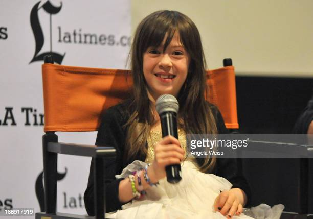Actress Onata Aprile attends the LA Times Indie Focus Screening of What Masie Knew at Laemmle NoHo 7 on May 16 2013 in North Hollywood California