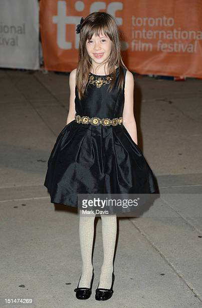 Actress Onata Aprile attends the What Maisie Knew premiere during the 2012 Toronto International Film Festival at Roy Thomson Hall on September 7...