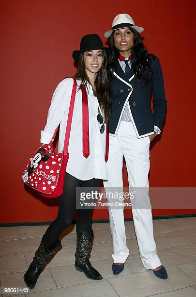 Actress Oona Chaplin and actress Jeanene Fox attend 'Sicilian Defence' Milan Photocall held at Cinema Apollo on March 26 2010 in Milan Italy