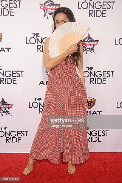 Actress Oona Chaplin arrives at the Los Angeles premiere of 'The Longest Ride' at TCL Chinese Theatre IMAX on April 6 2015 in Hollywood California