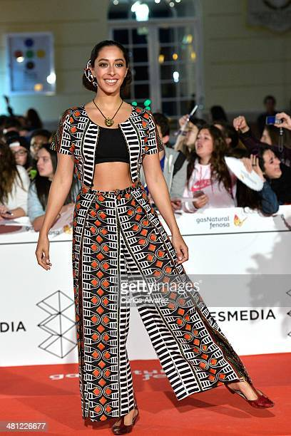Actress Oona Chaplin attends the 'La Vida Inesperada' premiere during the 17th Malaga Film Festival 2014 Day 8 at the Cervantes Theater on March 28...