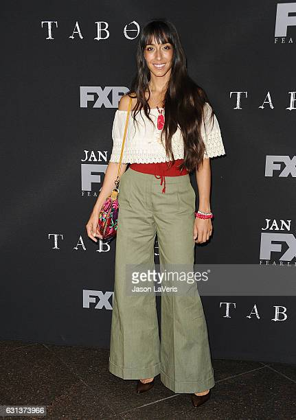 Actress Oona Chaplin attends the premiere of 'Taboo' at DGA Theater on January 9 2017 in Los Angeles California