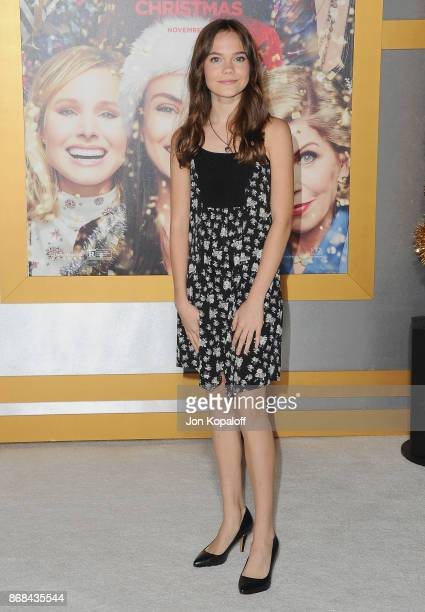 Actress Oona Laurence arrives at the Los Angeles Premiere of 'A Bad Moms Christmas' at Regency Village Theatre on October 30 2017 in Westwood...