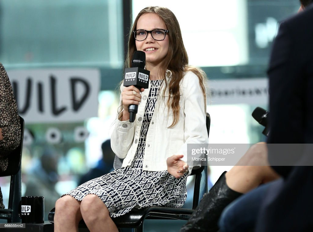 Actress Oona Laurence attends Build Series Presents Rob Meyer, Annie J. Howell, Christine Taylor And Oona Laurence Discussing 'Little Boxes' at Build Studio on April 14, 2017 in New York City.