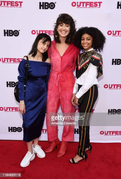Actress Oona Yaffe director Hannah Pearl Utt and actress Arica Himmel arrive at the 2019 Outfest Los Angeles LGBTQ Film Festival Closing Night Gala...