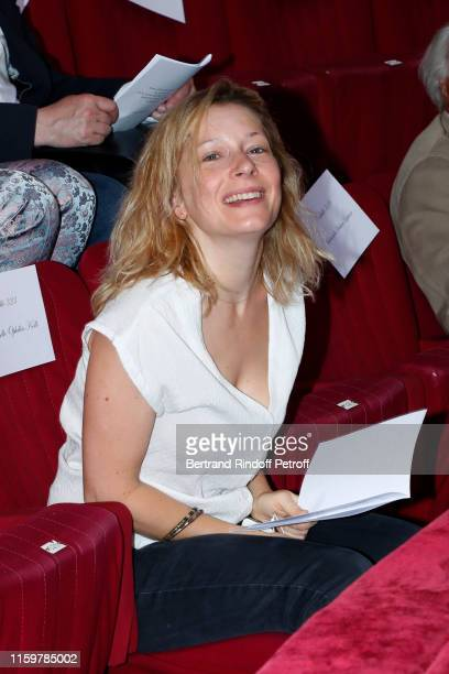Actress Ophelia Kolb attends the Franck Sorbier Haute Couture Fall/Winter 2019 2020 show as part of Paris Fashion Week on July 03, 2019 in Paris,...