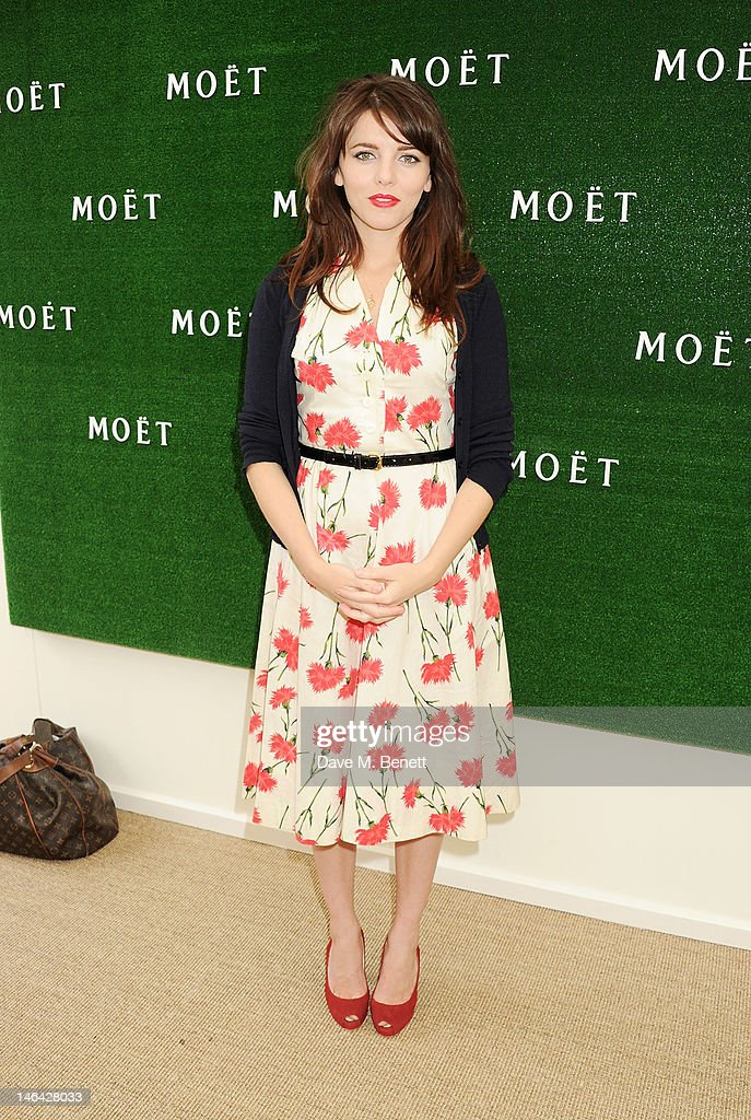 Actress Ophelia Lovibond attends the Moet & Chandon suite at The Queen's Club Tennis Championships on June 16, 2012 in London, England.