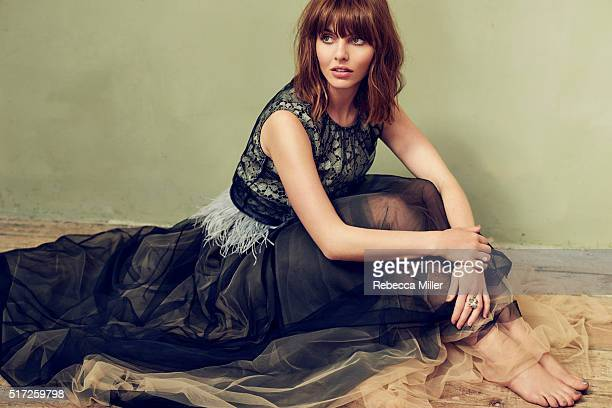 Actress Ophelia Lovibond is photographed for The Untitled Magazine on June 18 2015 in London England Published Image