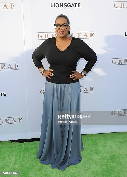 Actress Oprah Winfrey arrives at the premiere of OWN's Greenleaf at The Lot on June 15 2016 in West Hollywood California