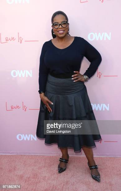 Actress Oprah Winfrey attends the premiere of OWN's Love Is_ at NeueHouse Hollywood on June 11 2018 in Los Angeles California