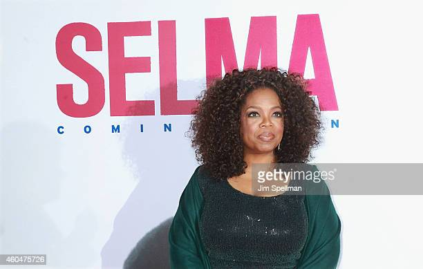 Actress Oprah Winfrey attends the Selma New York Premiere at the Ziegfeld Theater on December 14 2014 in New York City