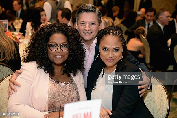 Actress Oprah Winfrey chief content officer at Netflix Ted Sarandos and director Ava DuVernay attend the 15th Annual AFI Awards Luncheon at Four...