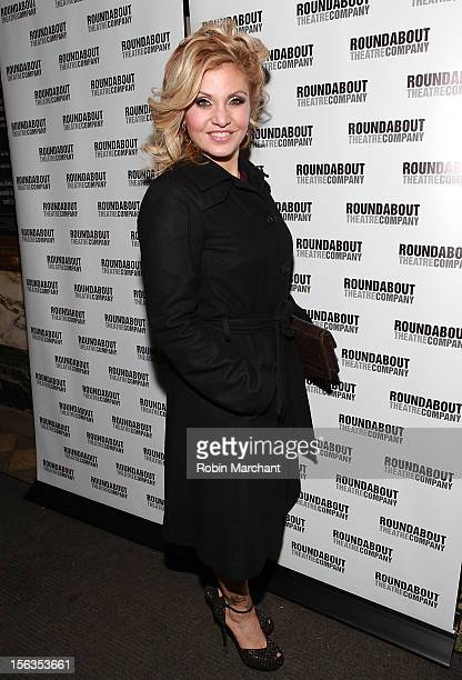 Actress Orfeh attends the 'The Mystery Of Edwin Drood' Broadway Opening Night at Roundabout Theatre Company's Studio 54 on November 13 2012 in New...