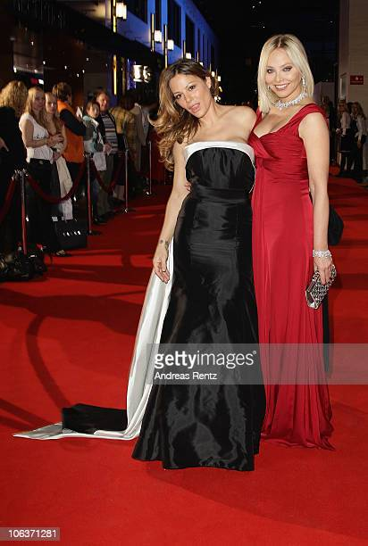 Actress Ornella Muti and her daughter Naike Rivelli arrive for the UNESCO CharityGala 2010 at Maritim Hotel on October 30 2010 in Duesseldorf Germany
