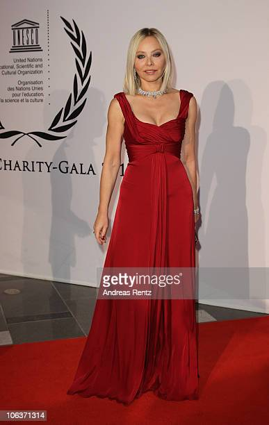 Actress Ornella Muti arrives for the UNESCO CharityGala 2010 at Maritim Hotel on October 30 2010 in Duesseldorf Germany