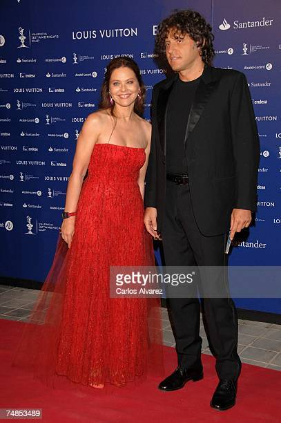 Actress Ornella Mutti and husband attends Americas Cup Match Black The Party on June 21 2007 at Antigua Tabacalera in Valencia Spain