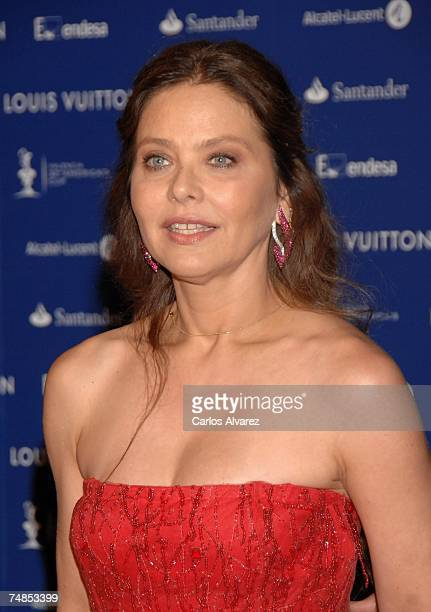 Actress Ornella Mutti attends Americas Cup Match Black The Party on June 21 2007 at Antigua Tabacalera in Valencia Spain