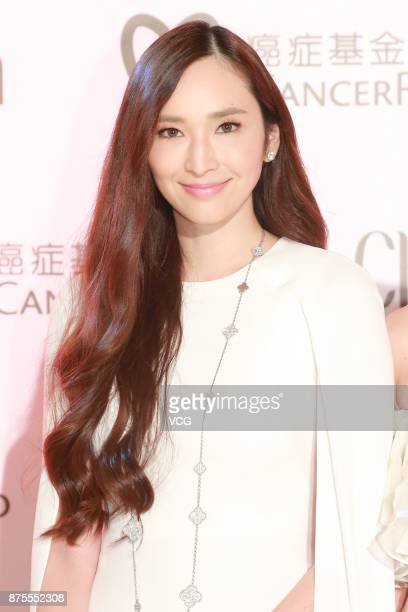 Actress Pace Wu attends the 30th anniversary dance party of Chara Wen Cancer Fund on November 17 2017 in Hong Kong China