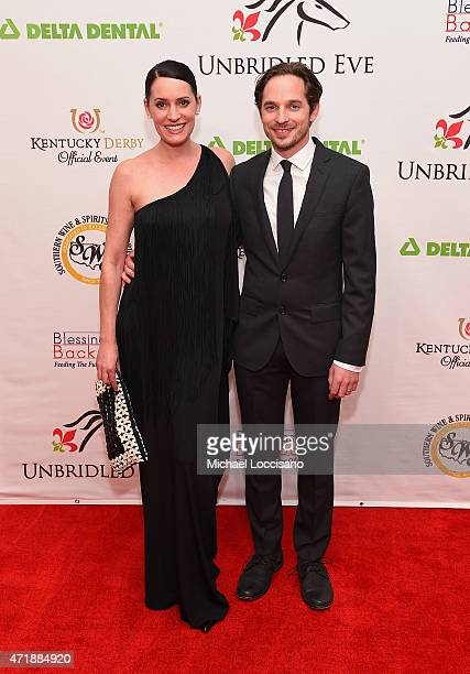 Actress Paget Brewster and musician Steve Damstra attend the 141st Kentucky Derby Unbridled Eve Gala at Galt House Hotel Suites on May 1 2015 in...