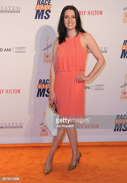 Actress Paget Brewster arrives at the 23rd Annual Race To Erase MS Gala at The Beverly Hilton Hotel on April 15 2016 in Beverly Hills California