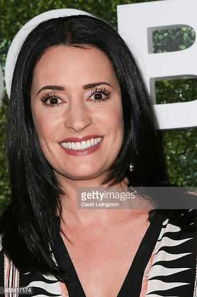 Actress Paget Brewster arrives at the CBS CW Showtime Summer TCA Party at the Pacific Design Center on August 10 2016 in West Hollywood California