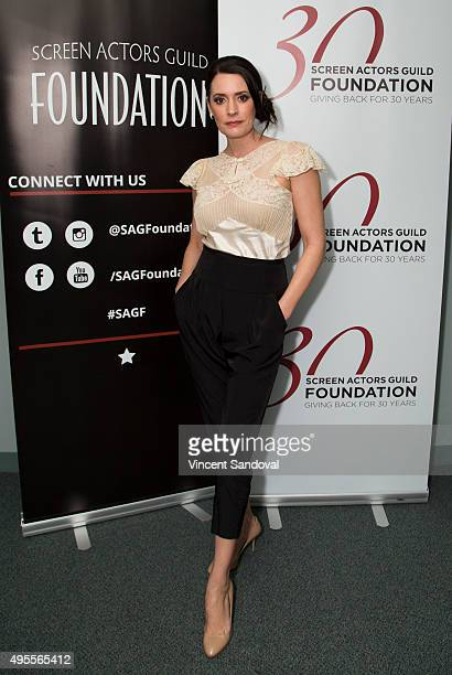 Actress Paget Brewster attends SAG Foundation's Conversations series screening of Grandfathered at SAG Foundation Actors Center on November 3 2015 in...