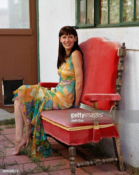 Actress Paget Brewster is photographed for InStyle Magazine in 2000 in Los Angeles California