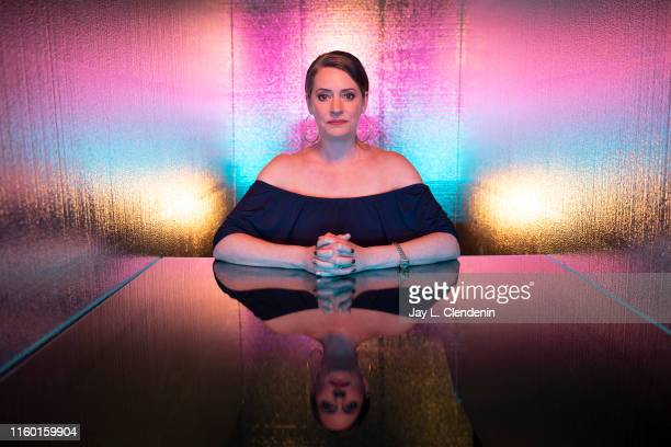 Actress Paget Brewster of 'Duck Tales' is photographed for Los Angeles Times at ComicCon International on July 19 2019 in San Diego California...