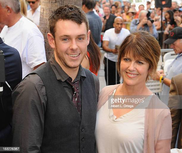 Actress Pam Dawber and son Pam Dawber participate in the Mark Harmon star ceremony on the Hollywood Walk of Fame on October 1 2012 in Hollywood...