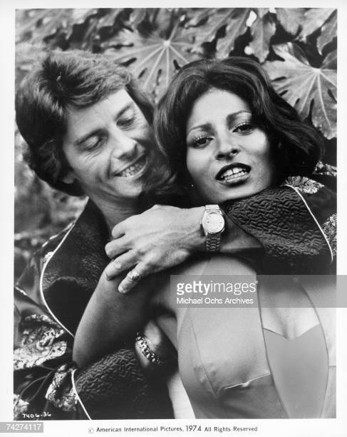 Actress Pam Grier and Peter Brown in a scene from the movie 'Foxy Brown' circa 1974 in Los Angeles California