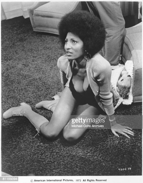 Actress Pam Grier in a scene from the movie Coffy circa 1973 in Los Angeles California