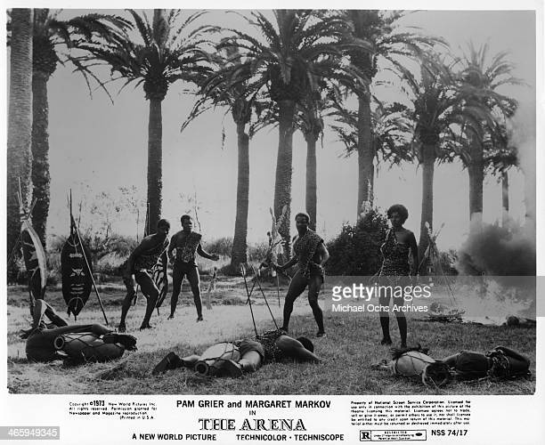 Actress Pam Grier in a scene from the movie 'The Arena' which was released on January 15 1974
