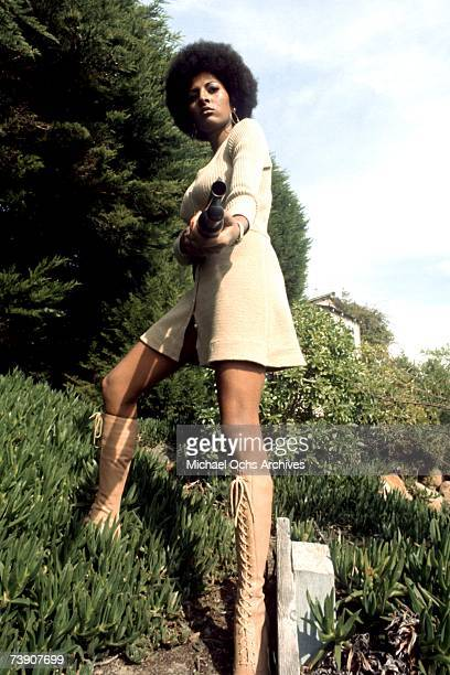 Actress Pam Grier poses for a publicity photo for her movie 'Coffy' circa 1973 in Los Angeles, California.
