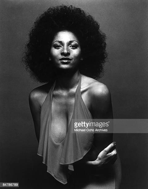"Actress Pam Grier poses for a publicity photo for her movie ""Coffy"" circa 1973 in Los Angeles, California."